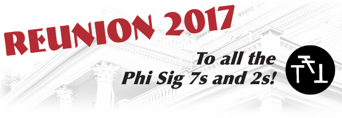 Reunion 2017: to all the 